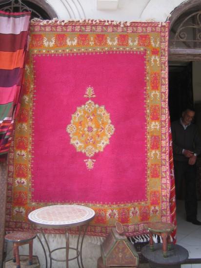 Carpet in the shop in Morocco